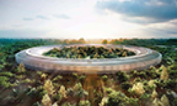 Apple Campus 2 Rendering vignette head