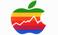 apple logo courbe argent benefice