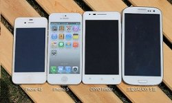 comparaison iphone 5 iphone 4s oppo finder galaxy s3 vignette