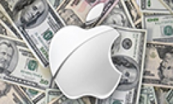 logo apple dollars vignette head