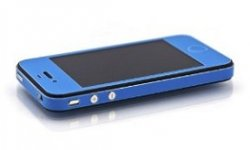 slickwraps vivd blue glow sticker pour iphone illume smartphone 5