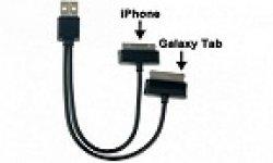 Y cable de rechargement apple samsung usbfever vignette