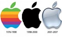 apple logo evolution vignette