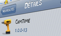 camtime application cydia tweak appareil photo iphone ipod ipad ajout declencheur vignette